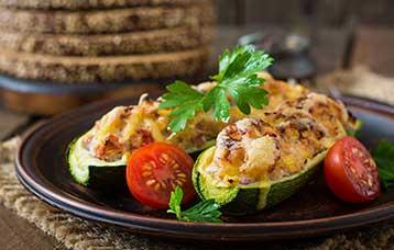 Barchette di zucchine gratinate